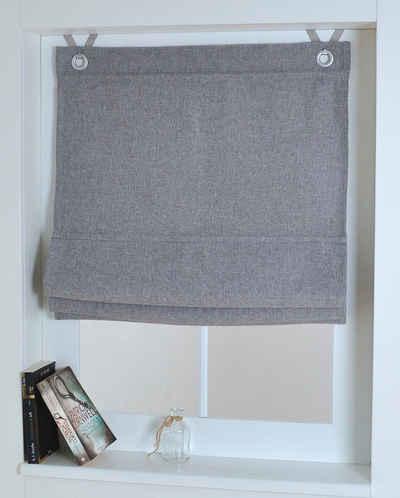 Raffrollo »Dimout«, Kutti, mit Hakenaufhängung, ohne Bohren, freihängend, mit Ösen, inkl. Fensterhaken