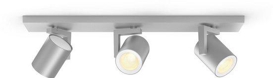 Philips Hue LED Deckenspot »White & Col. Amb. Argenta aluminium«, 3-flammig