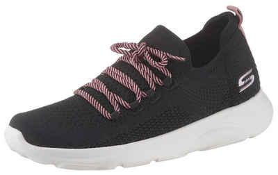 Skechers »Bobs Surge« Slip On Sneaker mit aufgesetzter Schnürung im Kontrastlook