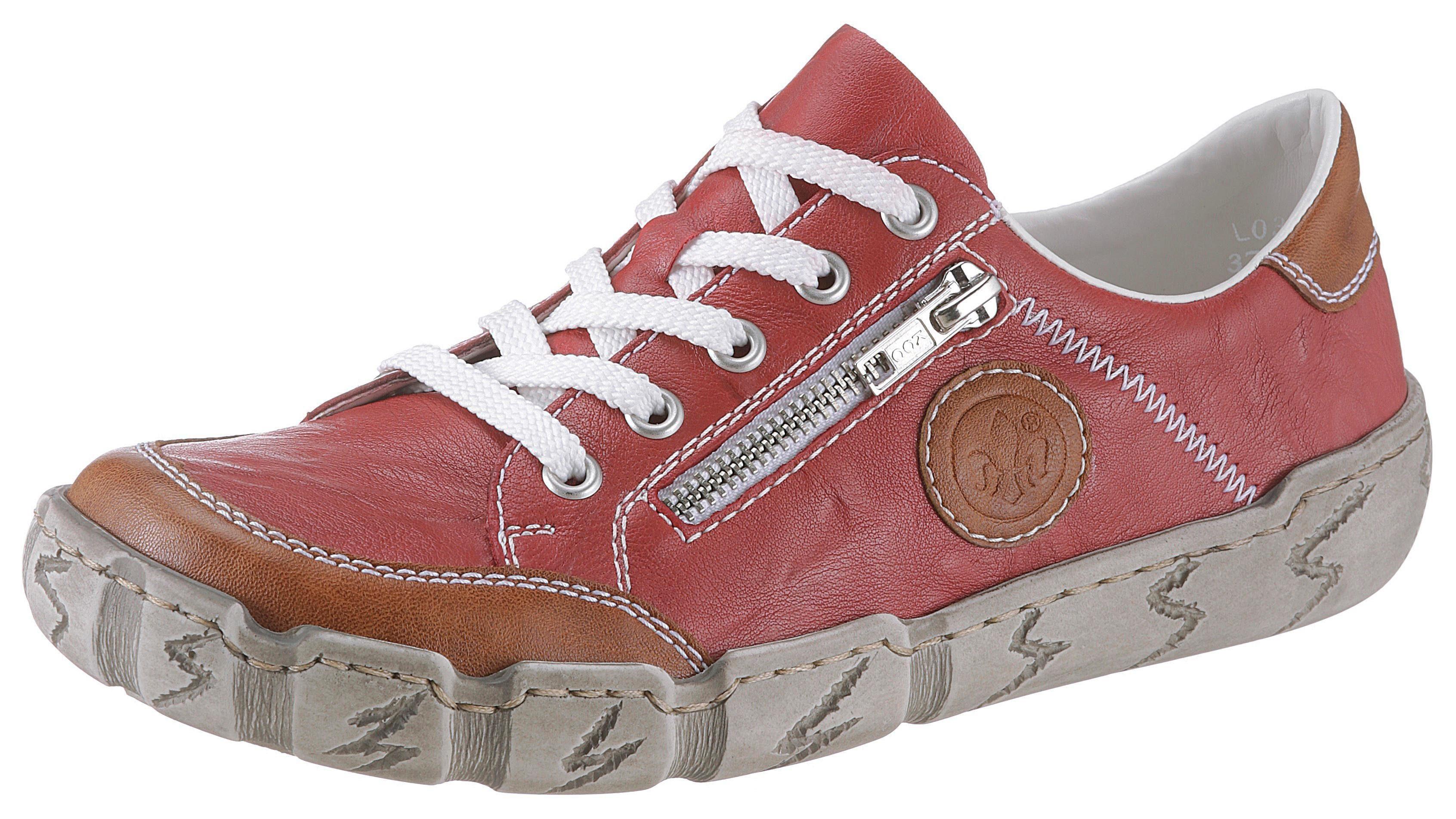 Rieker Sneaker mit Zierreißverschluss, Weich gepolsterter