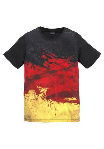 Футболка »schwarz/rot/gold/ Deut...