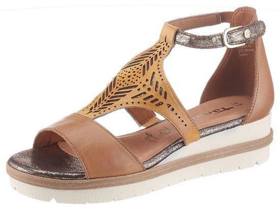 Tamaris »Eda« Sandale mit trendigem Ethno-Lasercut
