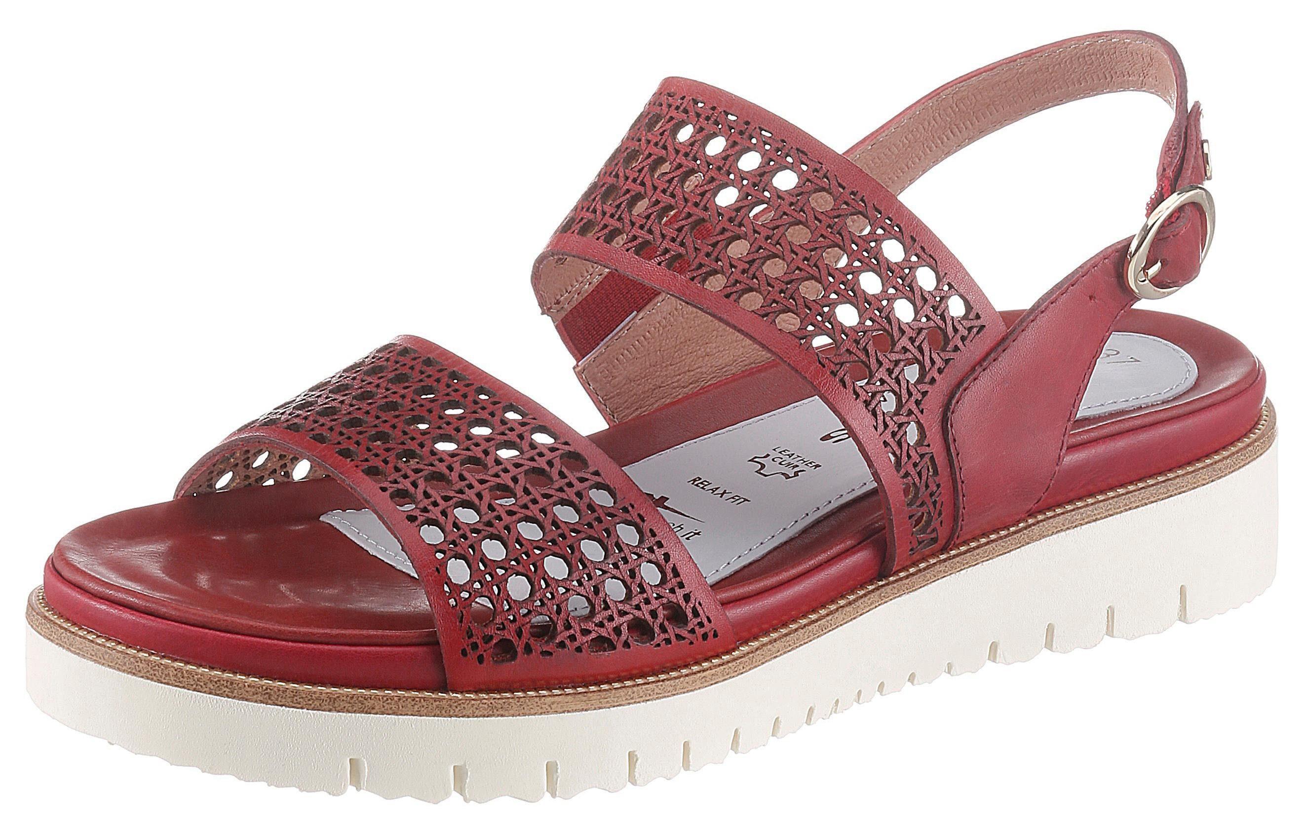 Tamaris »PureRelax« Sandale mit sommerlichen Lasercut online kaufen   OTTO