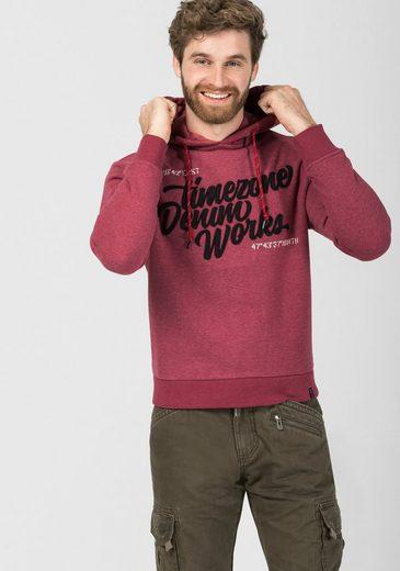 TIMEZONE Kapuzensweatshirt »Felt Application Hoodie«