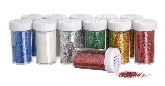 VBS 12er Set Glitter à 22 g, 6 Farben