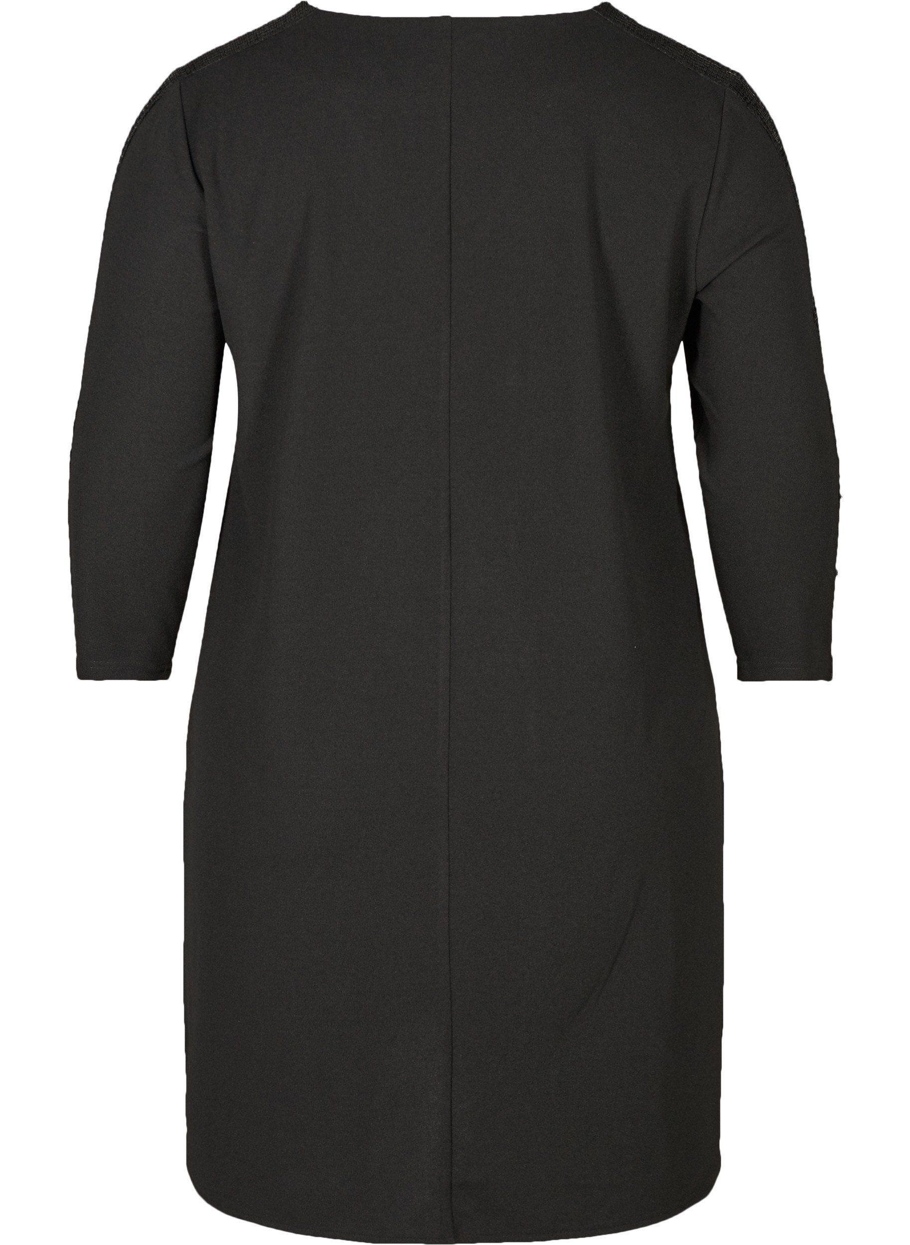 Zizzi Tunika Damen Große Größen Kleid Elegant Pallieten Langarm Abendkleid online kaufen