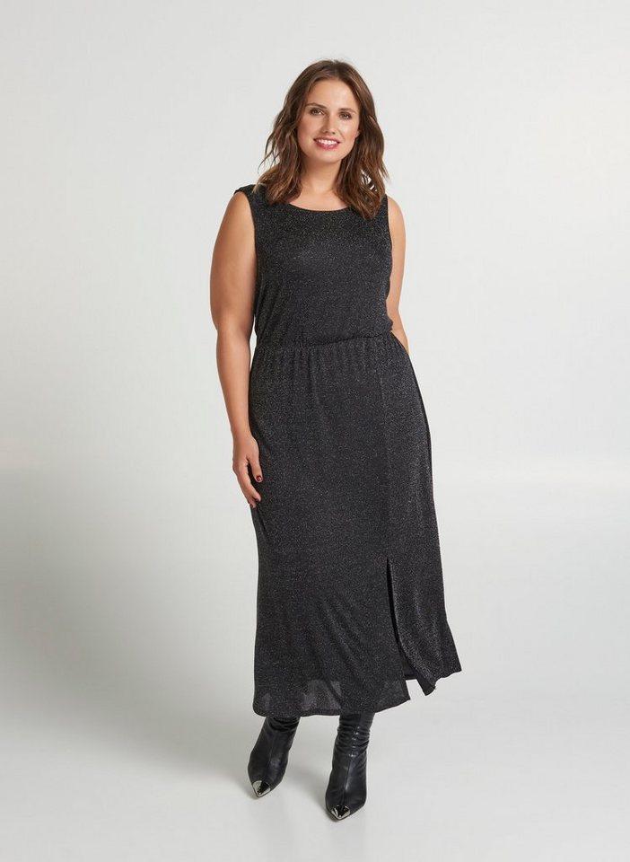 klassische Passform High Fashion Shop für echte Zizzi Partykleid Damen Große Größen Kleid Ärmellos Glitzer Festlich  Glitzerkleid online kaufen | OTTO