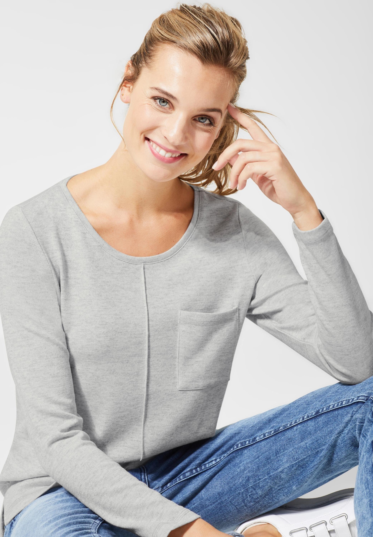 Cecil Rundhalsshirt, Shirt in Melange Optik online kaufen | OTTO
