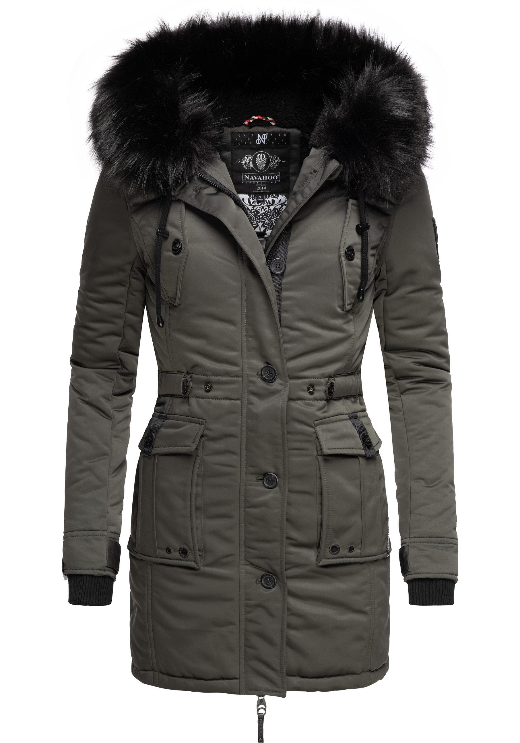 Navahoo Damen Wintermantel Winterparka Wooly XS-3XL