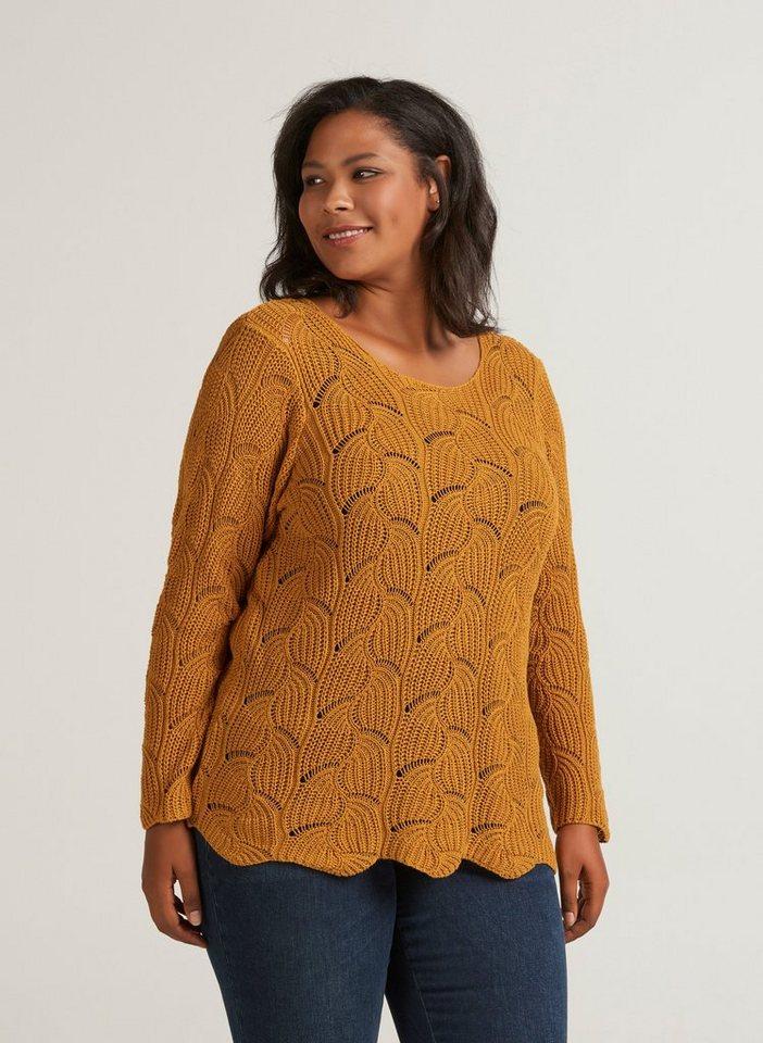 wähle das Neueste Ausverkauf Preis Zizzi Langarmbluse Damen Große Größen Strickpullover Langarm Leicht  Pullover online kaufen | OTTO