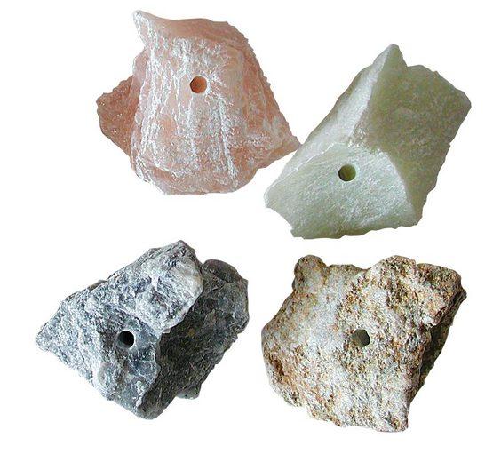 Speckstein-Amulettsteine, 4 Stück
