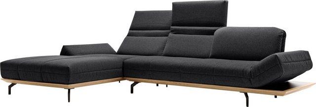 Sofas - hülsta sofa Ecksofa »hs.420«, in 2 Qualitäten, Holzrahmen in Eiche Natur oder Nußbaum  - Onlineshop OTTO