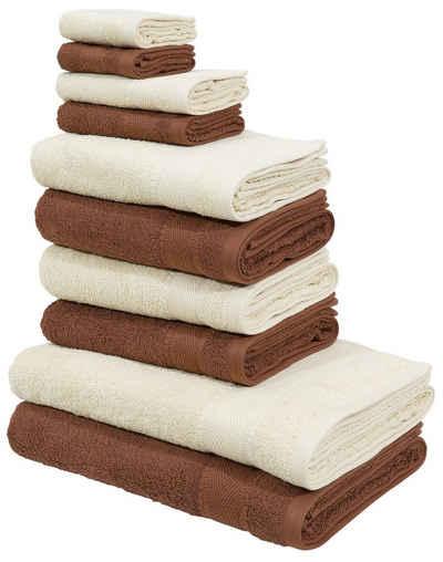 My Home Handtuch Set Afri Mit Tollen Farbkombinationen 10 Tlg Set