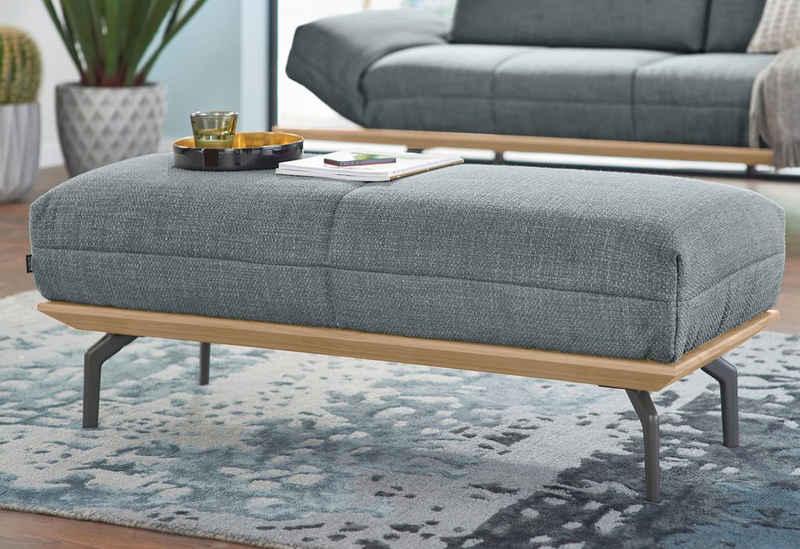 hülsta sofa Hocker »hs.420« (mit Holzrahmen in Eiche Natur oder Nußbaum), in 2 Qualitäten, Holzrahmen in Eiche Natur oder Nußbaum