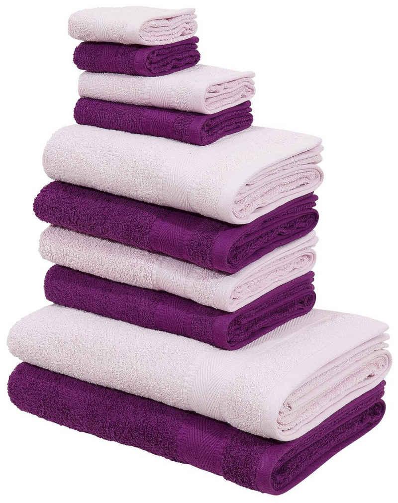 my home Handtuch Set »Afri« (Set, 10-tlg), mit tollen Farbkombinationen