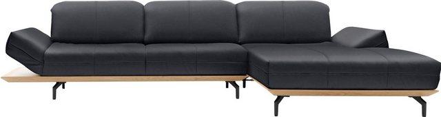 Sofas - hülsta sofa Ecksofa »hs.420«, XL in 2 Qualitäten, Holzrahmen in Eiche Natur oder Nußbaum  - Onlineshop OTTO