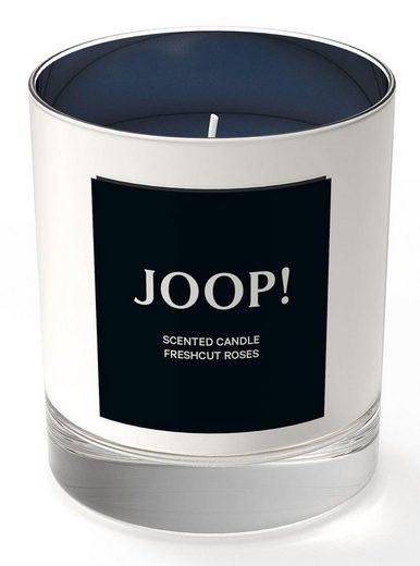 Joop! Duftkerze »Festive Candle - Silber Fresh Cut Roses«, FESTIVE COLLECTION