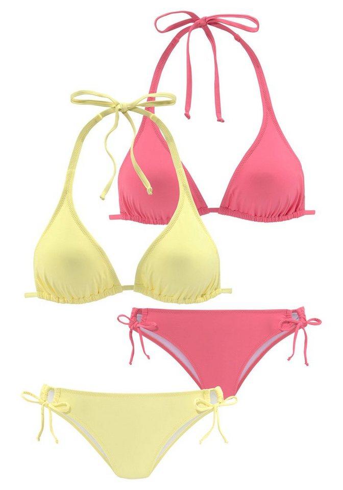 Bademode - Homeboy Triangel Bikini (2 St) im Doppelpack › rosa  - Onlineshop OTTO