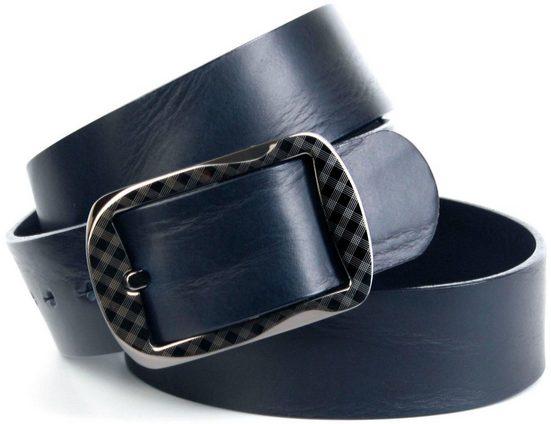 Anthoni Crown Ledergürtel Vollleder Jeansgürtel genarbt