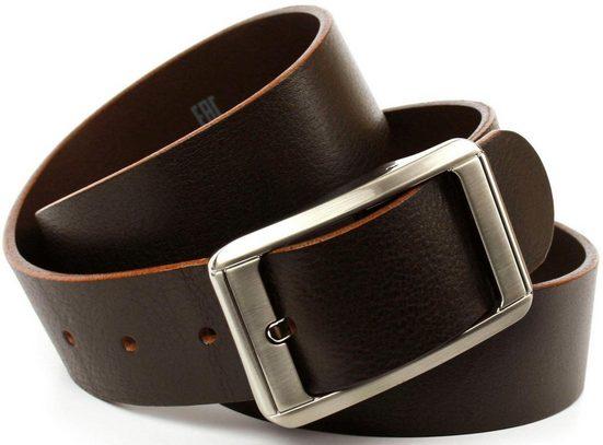 Anthoni Crown Ledergürtel Jeansgürtel mit silberfarbener Schließe