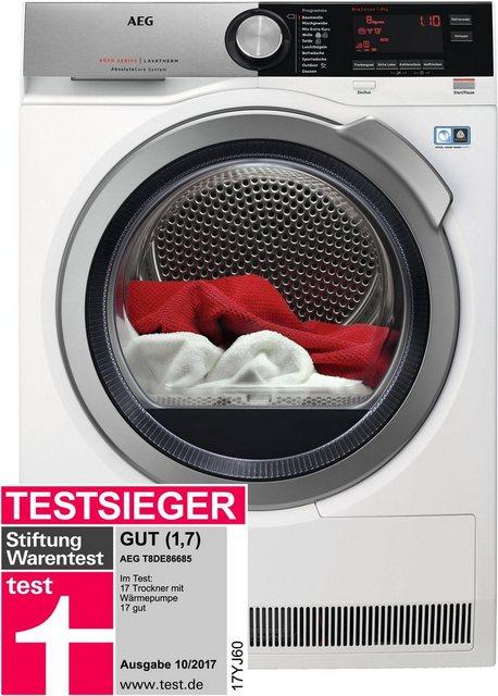 AEG Wärmepumpentrockner LAVATHERM T8DE86685, 8 kg | Bad > Waschmaschinen und Trockner | AEG