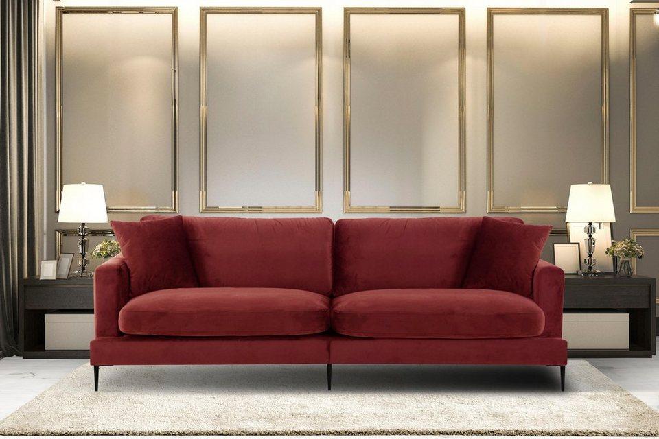 Leonique Big-Sofa »Cozy«, mit losen Kissen und Metallbeinen online kaufen |  OTTO