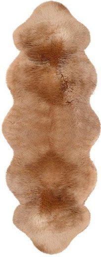 Fellteppich »Doppel-Lammfell«, Heitmann Felle, fellförmig, Höhe 70 mm, echtes Austral. Lammfell, Wohnzimmer