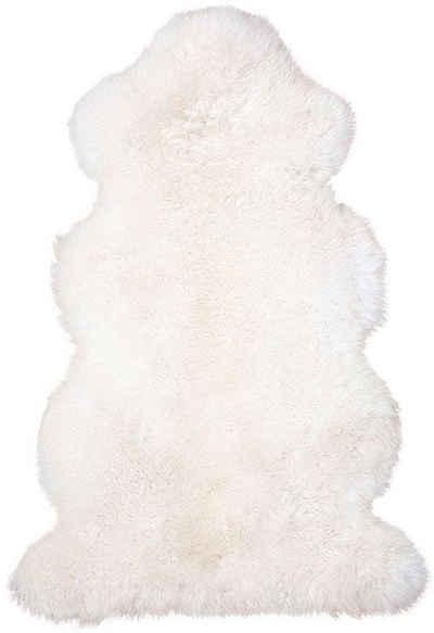 Fellteppich »Lammfell 156 weiß«, Heitmann Felle, fellförmig, Höhe 70 mm, echtes Austral. Lammfell, Wohnzimmer