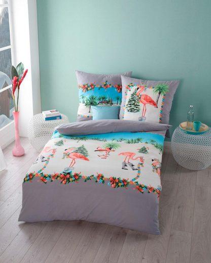 Bettwäsche »Tropical Winter«, Kaeppel, mit Flamingos