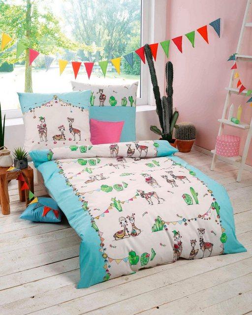 Kinderbettwäsche »Lama Party«, Kaeppel, kleine Lamas | Kinderzimmer > Textilien für Kinder > Kinderbettwäsche | Baumwolle | Kaeppel