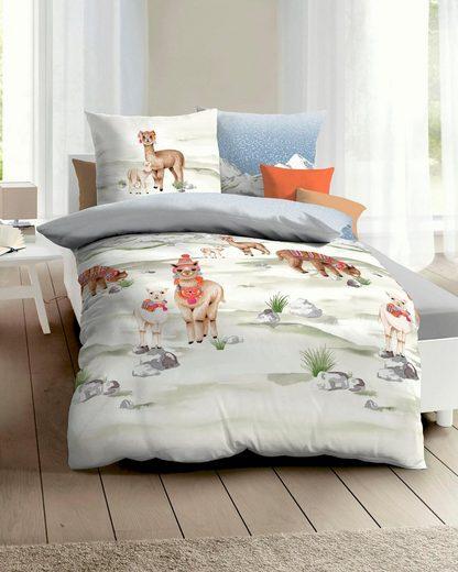 Bettwäsche »Alpaka«, Kaeppel, mit Alpakas