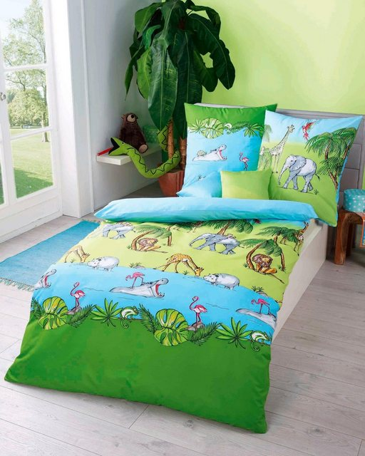 Kinderbettwäsche »Dschungel«, Kaeppel, mit Tierprint | Kinderzimmer > Textilien für Kinder > Kinderbettwäsche | Baumwolle | Kaeppel