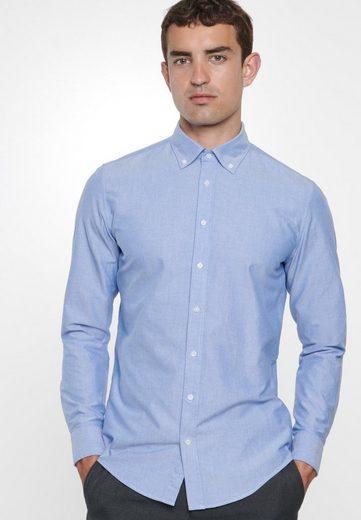 seidensticker Businesshemd »Slim« Slim Langarm Button-Down-Kragen Uni