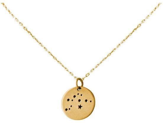 Gemshine Kette mit Anhänger »Horoskop Sternzeichen Aquarius Wassermann«, Made in Spain