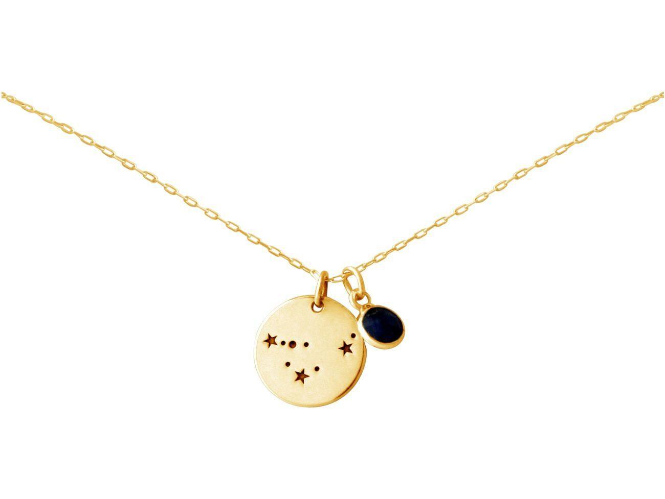 Gemshine Kette mit Anhänger »Sternzeichen Capricorn Steinbock mit blauem Saphir«, Made in Spain online kaufen | OTTO