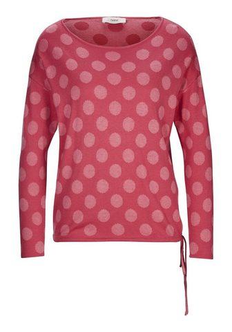 CASUAL пуловер с Tupfen-Jacquard