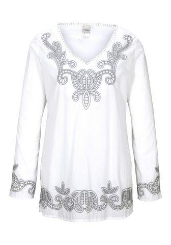 HEINE CASUAL блузка с кружевом с отверстия