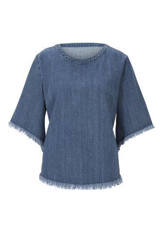 CASUAL джинсовая блузка с бахрома