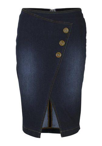 HEINE TIMELESS юбка джинсовая в с ложным зап...