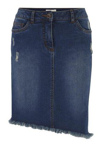 HEINE CASUAL юбка джинсовая с бахрома