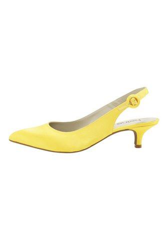 Туфли с открытой пяткой из атлас из ат...