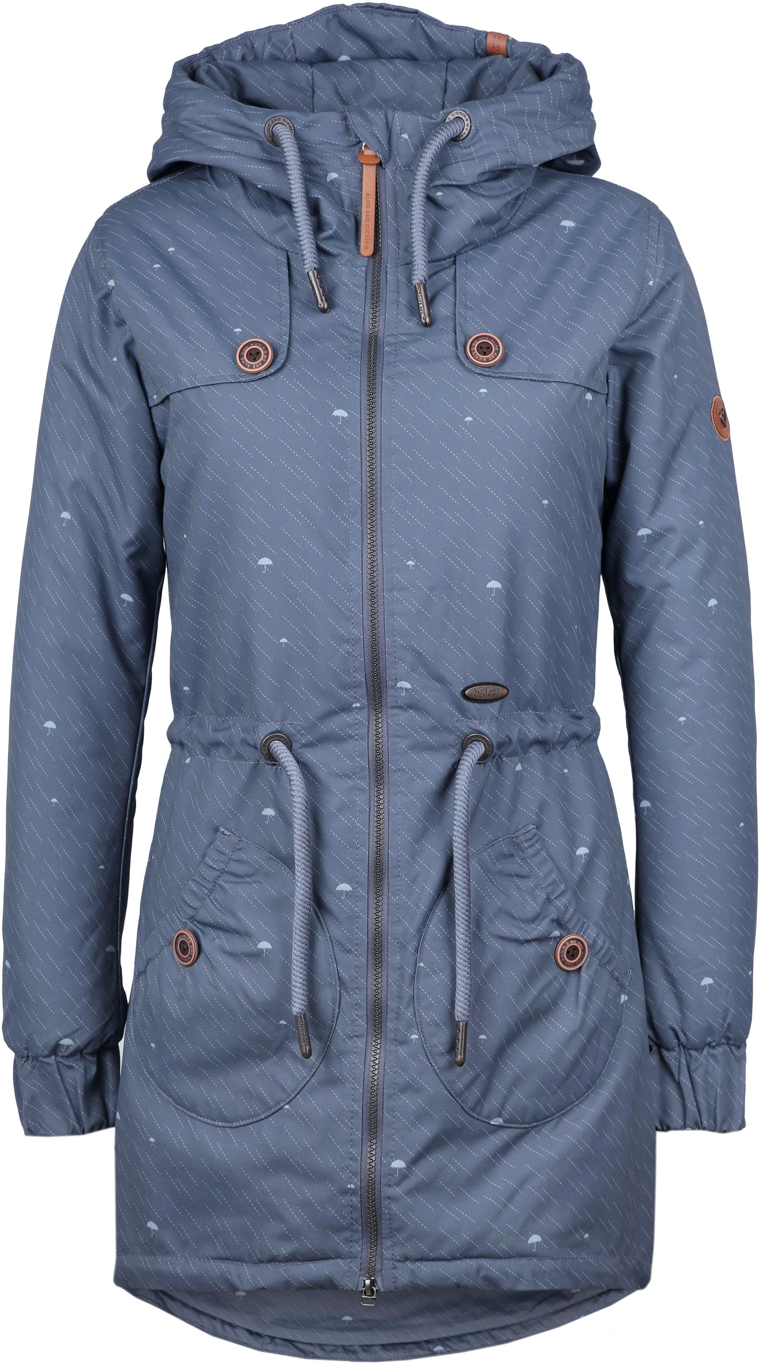alife and kickin Parka »CHARLOTTE A« modische Winterjacke mit Kapuze und vielen Details online kaufen | OTTO