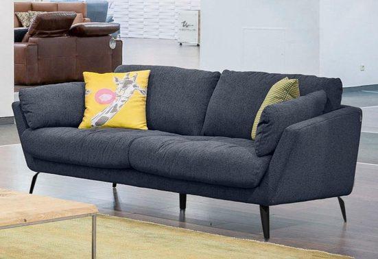 W.SCHILLIG 2-Sitzer »softy«, mit dekorativer Heftung im Sitz, Füße schwarz pulverbeschichtet