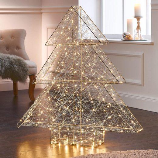 LED Baum »3D-Modern Art«, 260-flammig, Höhe 98 cm, Metall