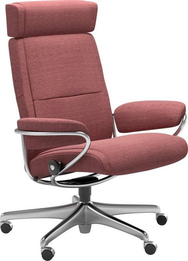 Stressless® Relaxsessel »Paris«, Low Back mit Kopfstütze, mit Home Office Base, Gestell Chrom