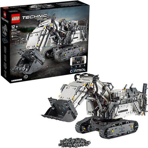 LEGO® Konstruktionsspielsteine »Liebherr Bagger R 9800 (42100), LEGO® Technic«, (4108 St)