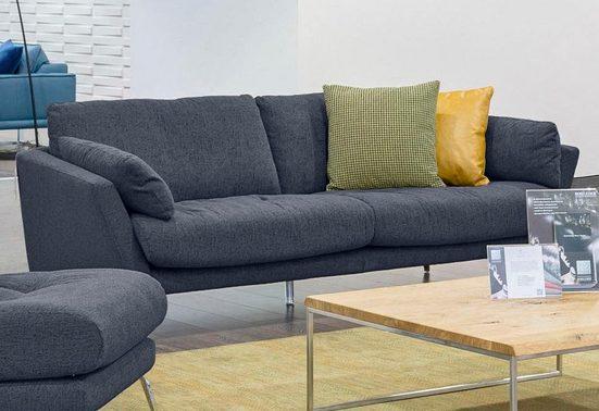 W.SCHILLIG 2,5-Sitzer »softy«, mit dekorativer Heftung im Sitz, Füße Chrom glänzend