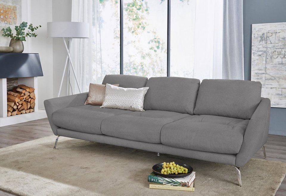 W.SCHILLIG Big-Sofa »softy«, mit dekorativer Heftung im Sitz, Füße Chrom  glänzend online kaufen | OTTO