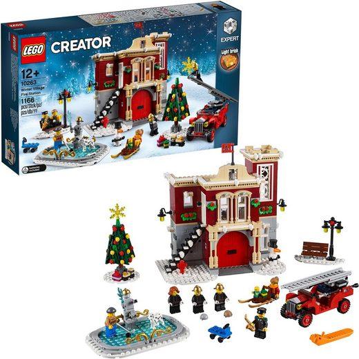 LEGO® Konstruktionsspielsteine »Winterliche Feuerwache (10263), LEGO® Creator Expert«, (1166 St)