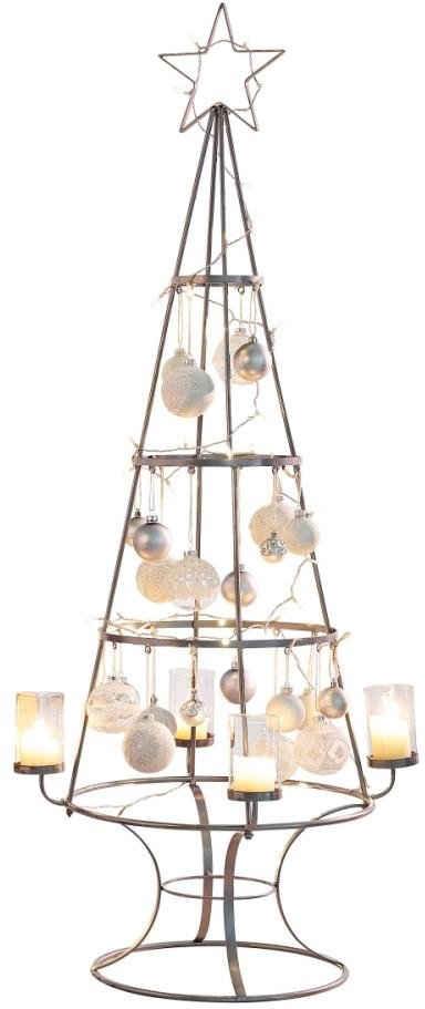 Teelichthalter »Weihnachtsbaum«, Metall/Glas